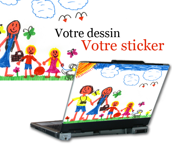 Sticker personnalisé pour ordinateur