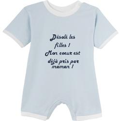 Barboteuse pour bébé personnalisée