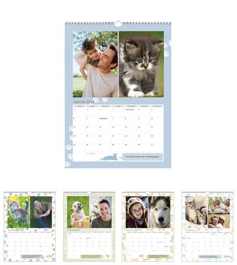 Calendriers photos personnalisés