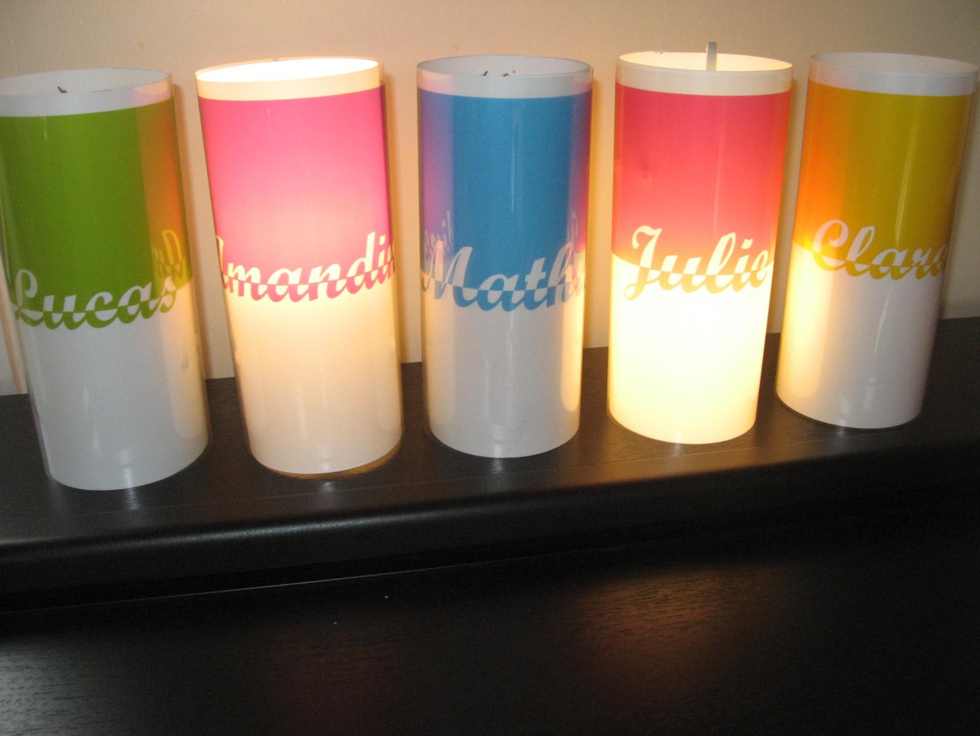 Lampes personnalisées pour chambre d'enfant