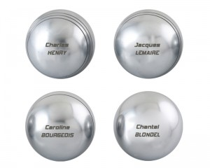Boules de pétanque personnalisables