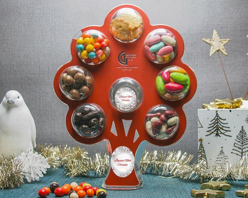 Cadeau noel personnalise arbre chocolats