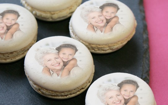 Macarons personnalises photos