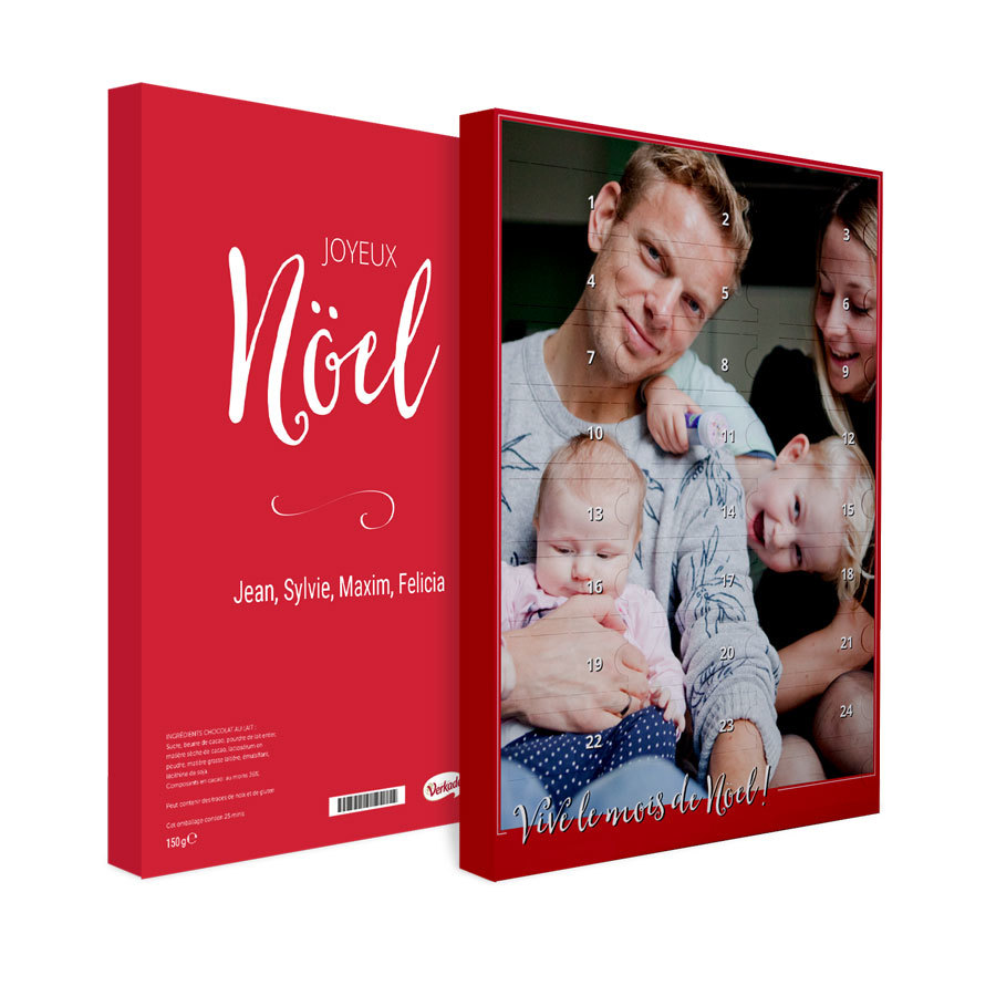 calendrier avent personnalise photo noel