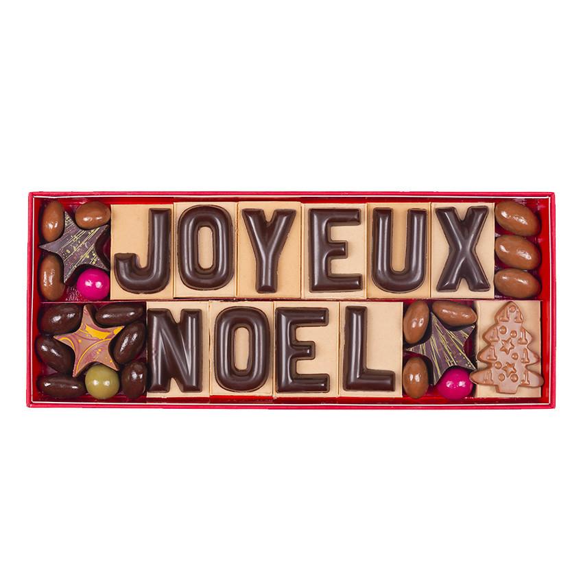 Dites Joyeux Noël à vos proches en offrant des chocolats personnalisés