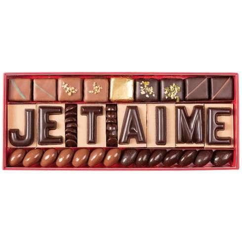 Cadeau couple declaration amour je t aime chocolats personnalises