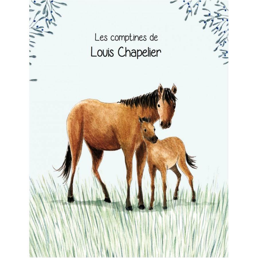 Cadeau personnalise enfant anniversaire comptines cheval