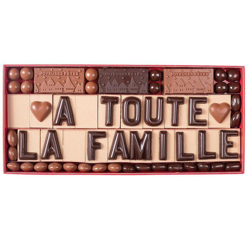 Coffret chocolat personnalises cadeau noel